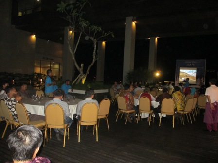 Suasana acara Welcome Dinner